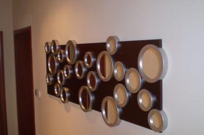 Egyedi tervezésű tükrös elem