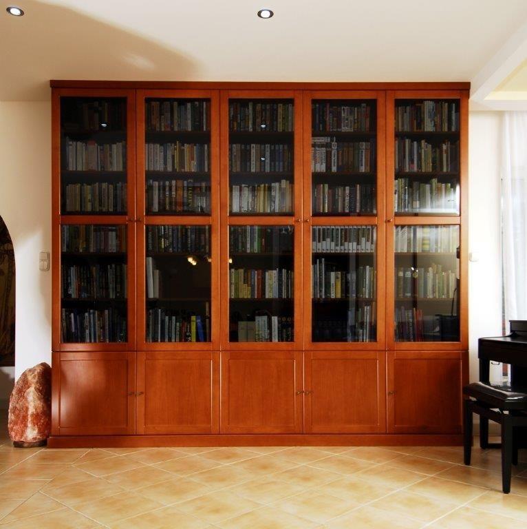 bükkfa könyvespolc