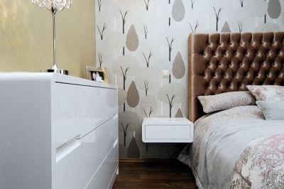 Hálószoba részlete az egyedi bútorokkal